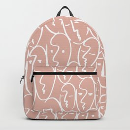 faces / pink Backpack