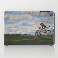 moto iPad Cases featuring Moto Jump  by Chloe Metcalfe