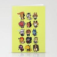 dangan ronpa Stationery Cards featuring Dangan Crossing by Dampho