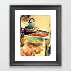 Sunday Morning Breakfast Framed Art Print