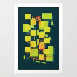 Color Orange Juice Illustration Art Print