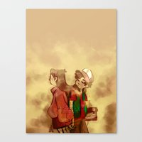 gravity falls Canvas Prints featuring Gravity Falls by frigates
