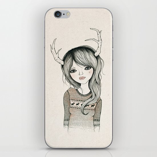 Antler Girl iPhone & iPod Skin