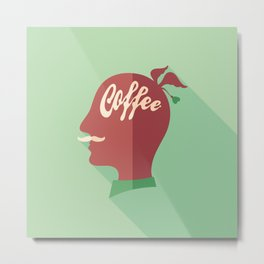 Coffee Head Metal Print