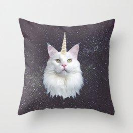Unicorn Cat Throw Pillow