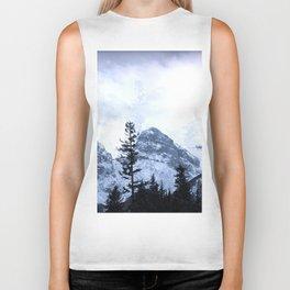 Mystic Three Sisters Mountains - Canadian Rockies Biker Tank