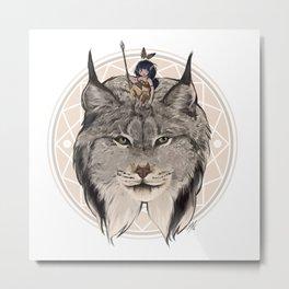 Wild Child - Lynx Metal Print
