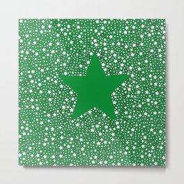 Starstruck Green Metal Print