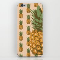 pineapples iPhone & iPod Skins featuring Pineapples by Brocoli ArtPrint