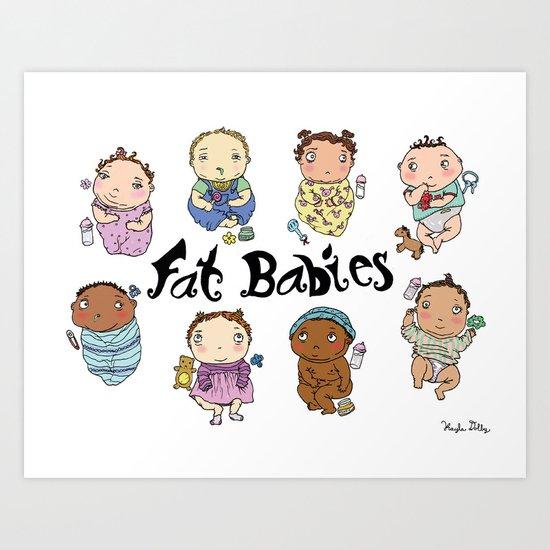 Fat Babies Art Print