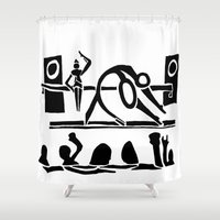 concert Shower Curtains featuring The Dance Concert by Ben Guidry