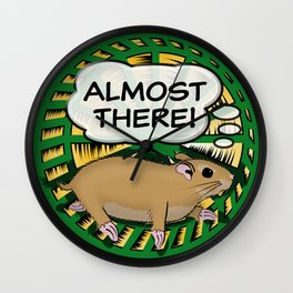 """""""Almost There"""" for Screenwriters Wall Clock"""