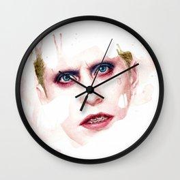 Watercolor portrait of Joker Wall Clock