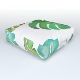 Tropical leaves Outdoor Floor Cushion