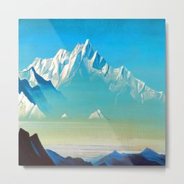 Nicholas Roerich Mount of Five Treasures Metal Print