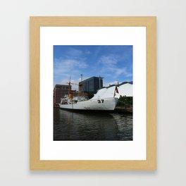 Coast Guard Cutter Taney Baltimore Harbor Framed Art Print