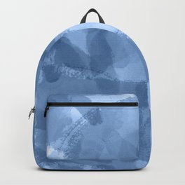 Ink Blue Watercolor Abstract Painting Backpack