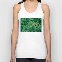 marijuana Tank Tops featuring Marijuana Plants  by Limitless Design