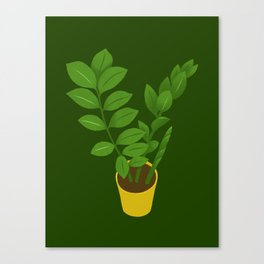 ZZ Plant Zamioculcas Tropical Houseplant Painting Canvas Print
