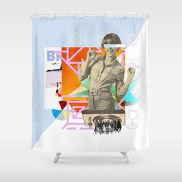 The yé-yé girl Shower Curtain