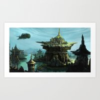 uncharted Art Prints featuring Uncharted by Henriiです~