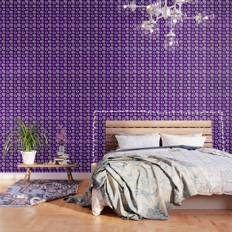 foto de Purple Flower Pattern Wallpaper by rachybattlebot   Society6