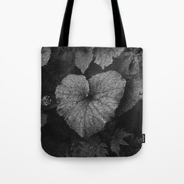 Grey Grey Heart Tote Bag