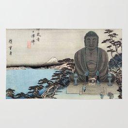 Ukiyo-e, Ando Hiroshige, KAMAKURA DAIBUTSU Rug