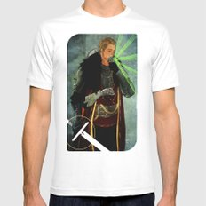Cullen Romance Tarot Card White Mens Fitted Tee MEDIUM