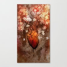 This Bleeding Blossoming Heart Canvas Print