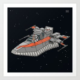 Space sneaker 2 Art Print