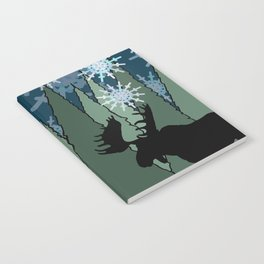 Moose in the Snowy Forest Notebook