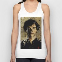 cumberbatch Tank Tops featuring Cumberbatch as Sherlock Holmes by André Joseph Martin