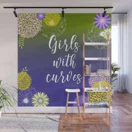 Feminine Girls With Curves Typography Wall Mural