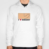 biology Hoodies featuring Biology by Andrew Mark Hunter