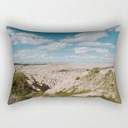 Red Shirt Table - Badlands National Park Rectangular Pillow