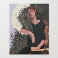 snk Canvas Prints featuring SNK- Lavender by Dylo