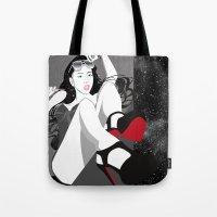 heels Tote Bags featuring Red Heels by Stevyn Llewellyn