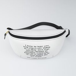 In Calm Waters - Jane Austen quote Fanny Pack