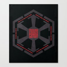 The Code of the Sith Canvas Print