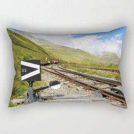 Ancient mountain railway Rectangular Pillow
