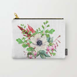 Peony Hearts Carry-All Pouch