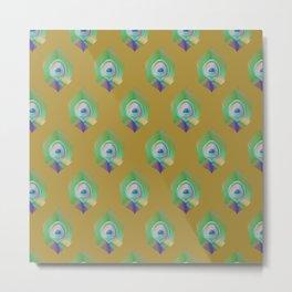 Peacock Pattern_E03 Metal Print