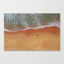 Patiently waiting for the perfect surf Canvas Print