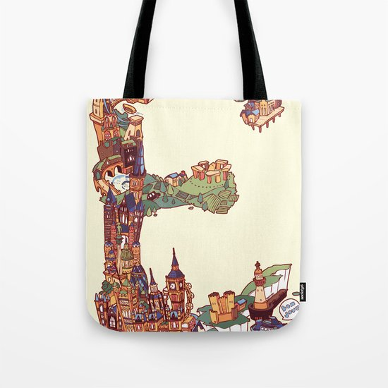 E is for England Tote Bag