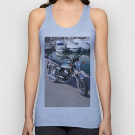 Classic Two Stroke Motorcycle Unisex Tank Top