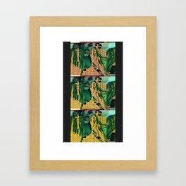 Glitched Self Framed Art Print