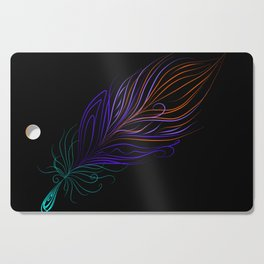 Flaming Feathers Cutting Board