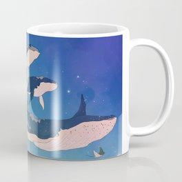 Flying whales Coffee Mug
