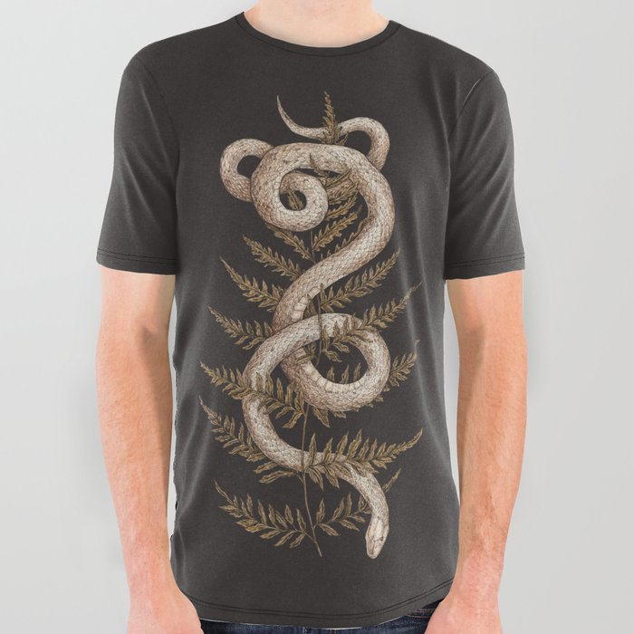 The_Snake_and_Fern_All_Over_Graphic_Tee_by_Jessica_Roux___Small